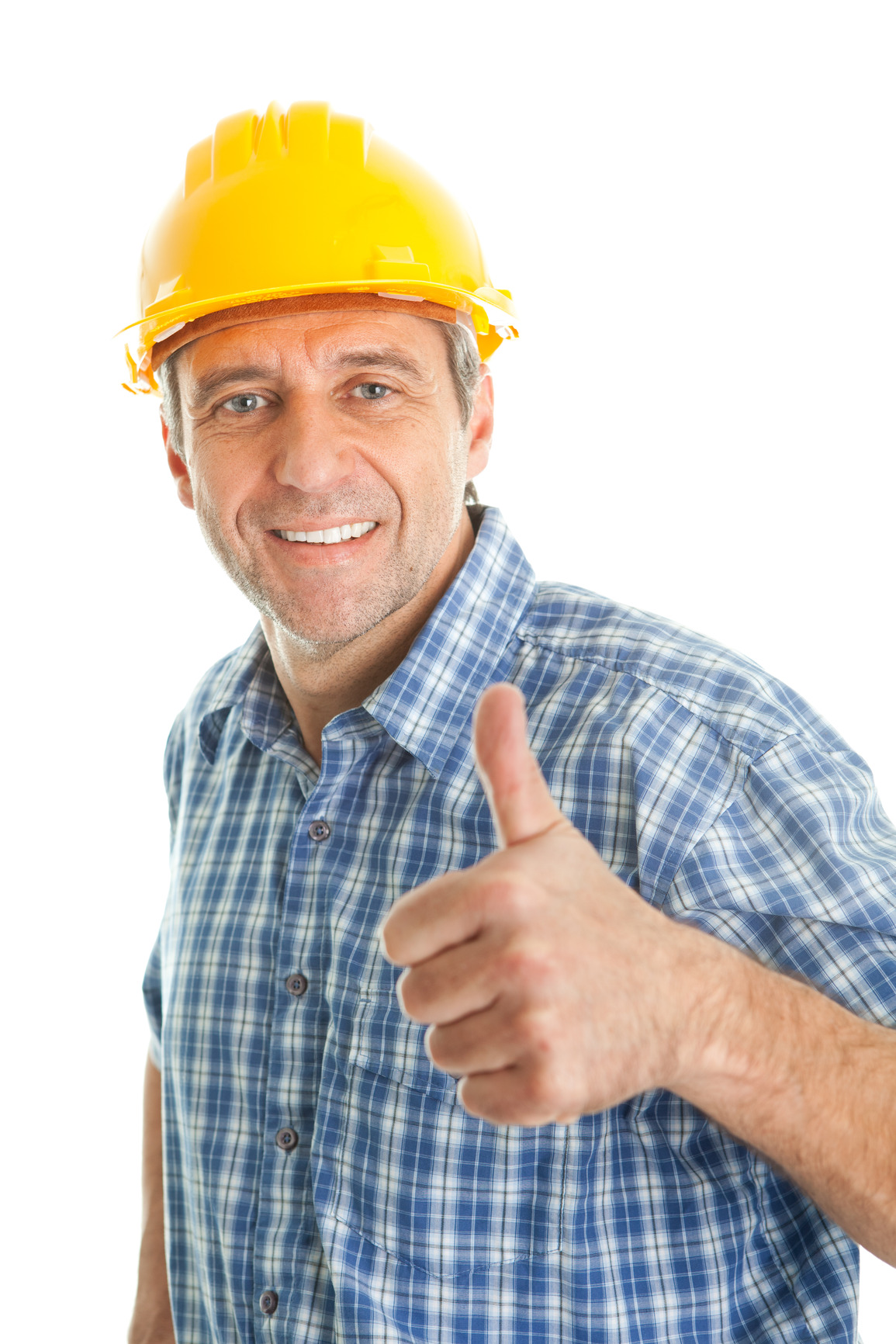 worker wearing hard hat balanced hr worker wearing hard hat